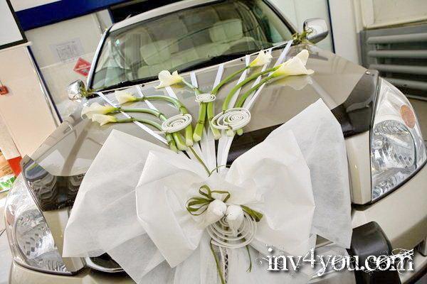 Как сделать украшение на машину на свадьбу своими руками с лентами
