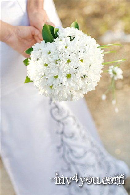 Фото букет невесты из ромашек