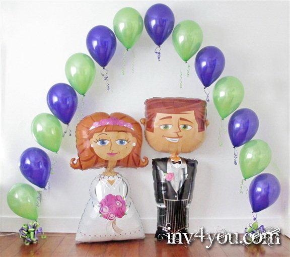 Воздушная радость для свадьбы фото