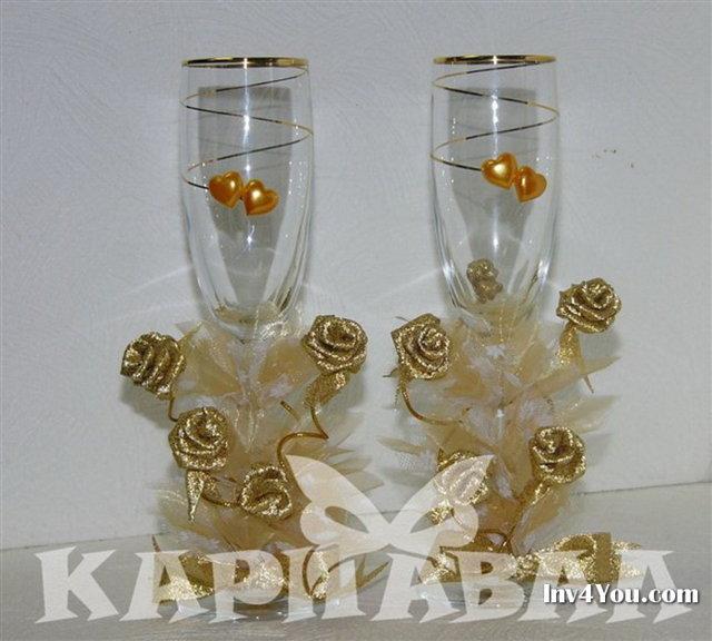 Как украсить шампанское на свадьбу атласными лентами своими 81