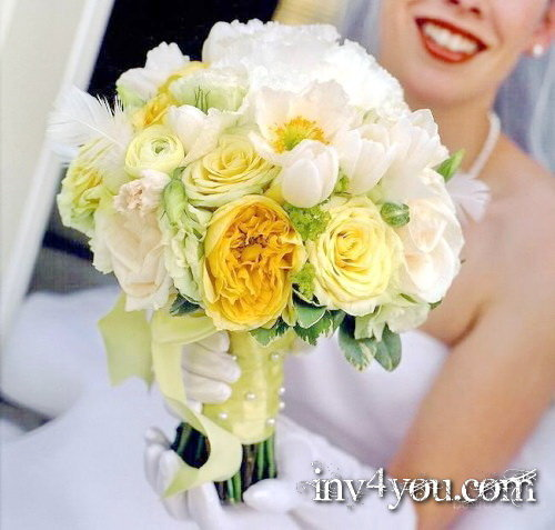 Свадебные букеты из живых цветов