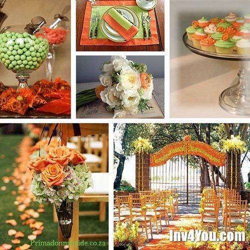 Свадьба в оранжевом цвете оформление