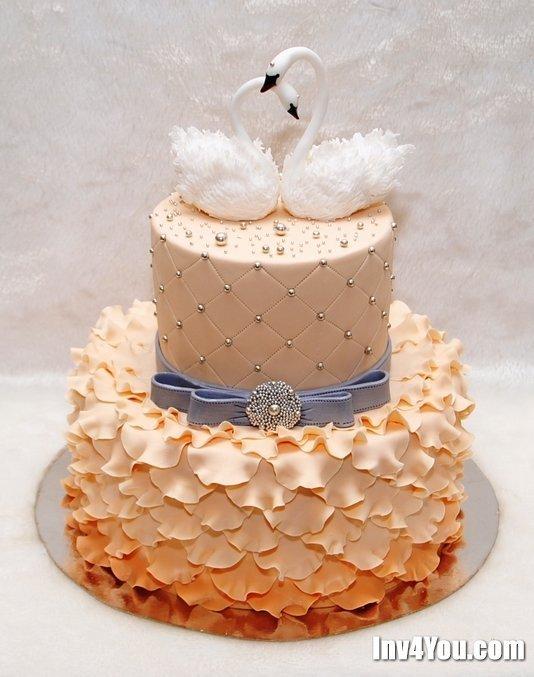 Торт на янтарную свадьбу фото