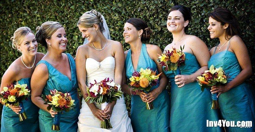 Платья для свадьбы бирюзового цвета