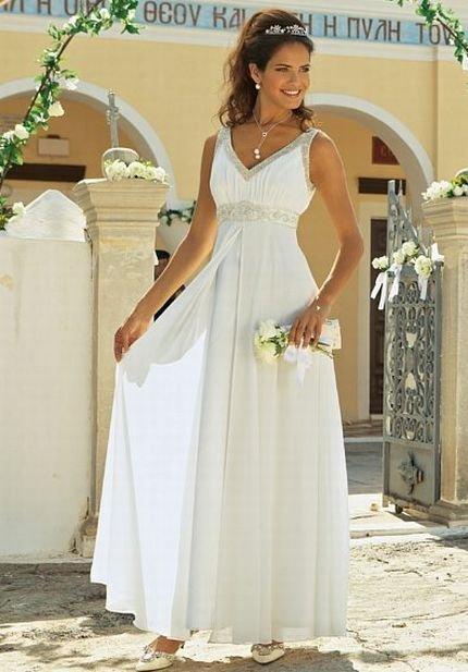 свадебные платья и прически