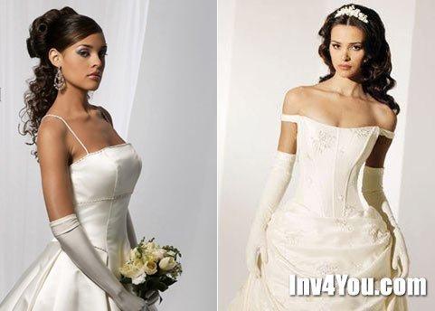 Игры свадебная причёска и платье