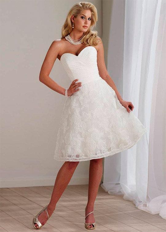 Свадебные платья 2014 фото короткие Невесты 14 летние девушки