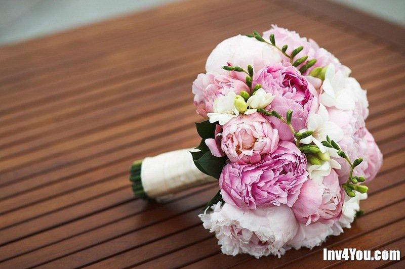 Сколько нужно пионов для свадебного букета