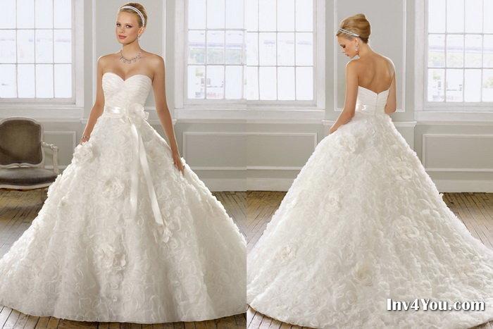 Свадебные платья для нежной невесты фото